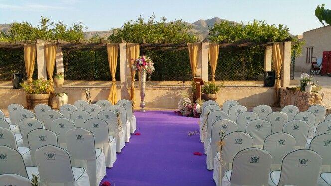 Decoracion floral para boda civil  realizada por floristeria rosas  en  jardines del hotel tudemir