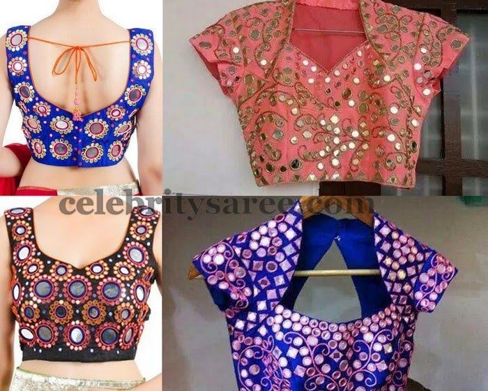 Large Mirror Work Blouses