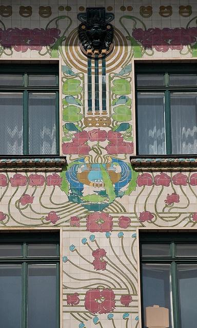 Architecture - Art Nouveau  - Majolica House, Otto Wagner, Vienna