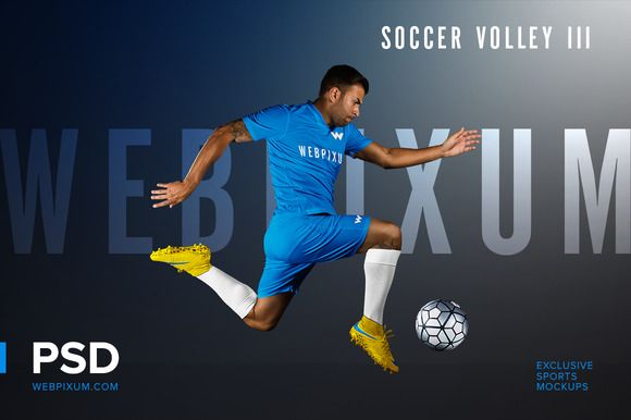 Soccer Volley III PSD Mockup Temp. by Webpixum on @creativemarket