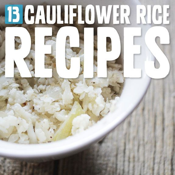 """Cauliflower """"rice"""" is a delicious alternative and substitute for white rice. It's actually really tasty, wholesome and low-carb."""