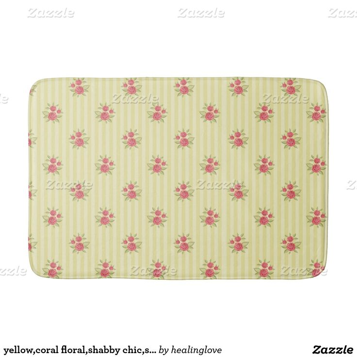 yellow,coral floral,shabby chic,stripes,victorian, bath mats