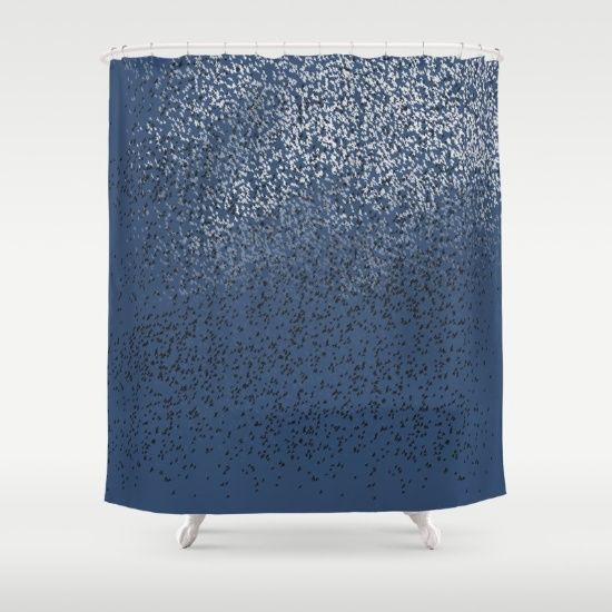 Cloud of birds Dark blue sky - $68