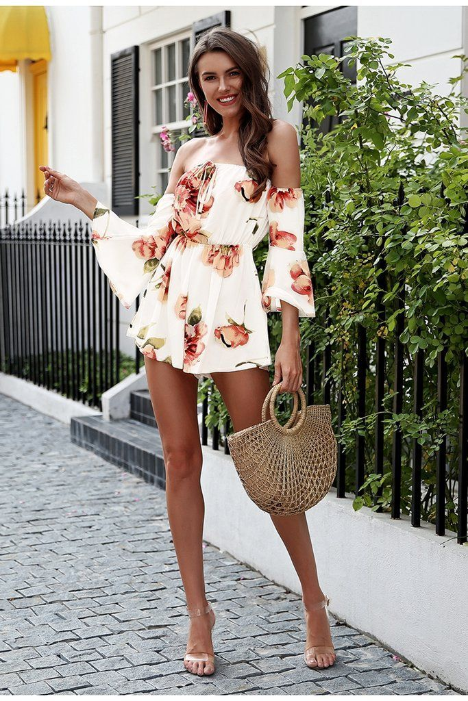 Women's Summer Beach Romper With Print | Summer fashion ...