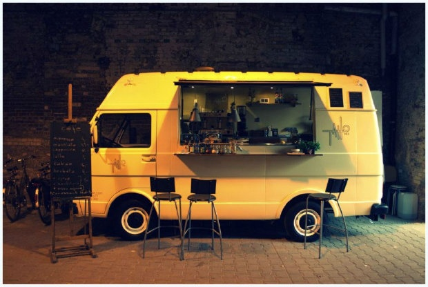 VW café in Poland, Taho Café DIY project...