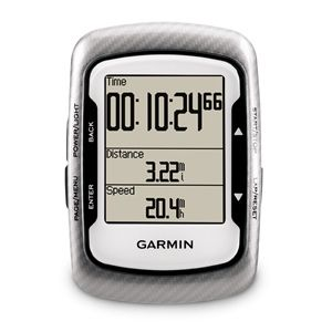 The Garmin Edge 500 Performance Bundle:  Waterproof - Man up. Ride in the rain. Battery lasts 15 hours - So you can ride, ride and ride! No Excuses Heart Rate Monitor - Just to make sure you don't overdo it Speed - Now you can monitor when you break your speed barrier! Distance - No cutting corners anymore Cadence - See how fast your leg are spinning  http://roa.rs/11SKp73