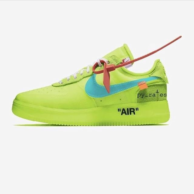 Off White x Nike Air Force 1 Löw Volt by @py_rates #nike