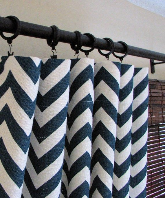 Curtains Ideas chevron curtains blue : 17 Best images about Curtain ideas on Pinterest   Damask curtains ...