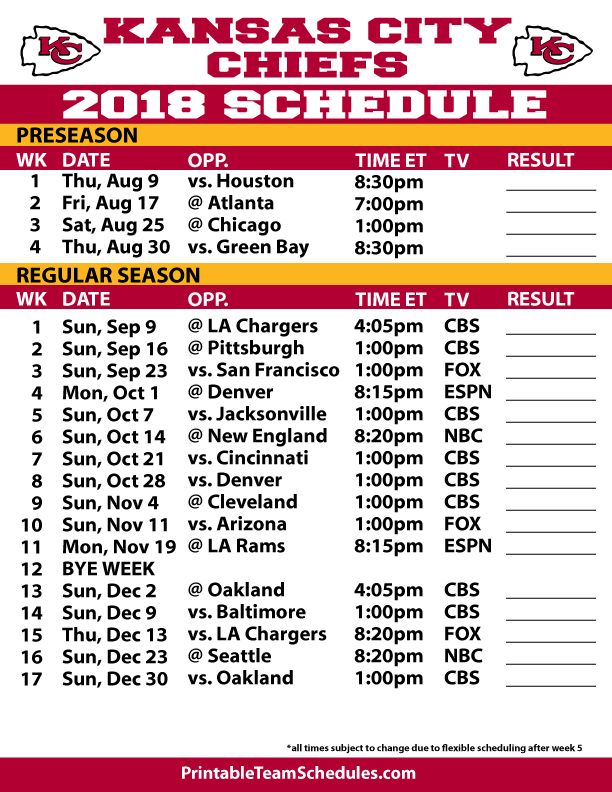 It is a photo of Declarative Kansas City Chiefs Printable Schedule
