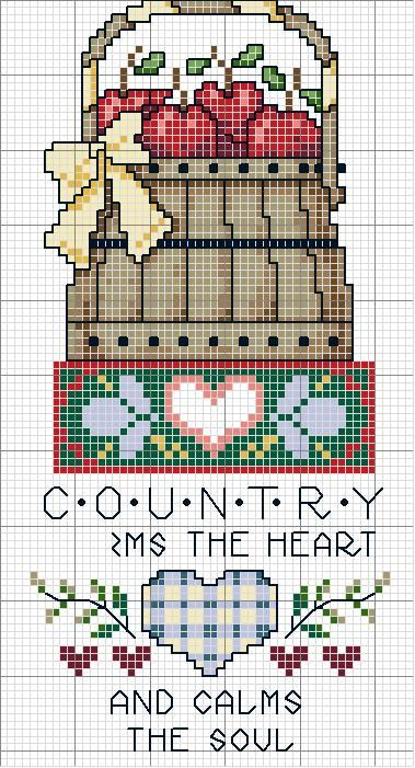 Cross-stitch Warms the Heart, part 1 of 2... color chart on part 2