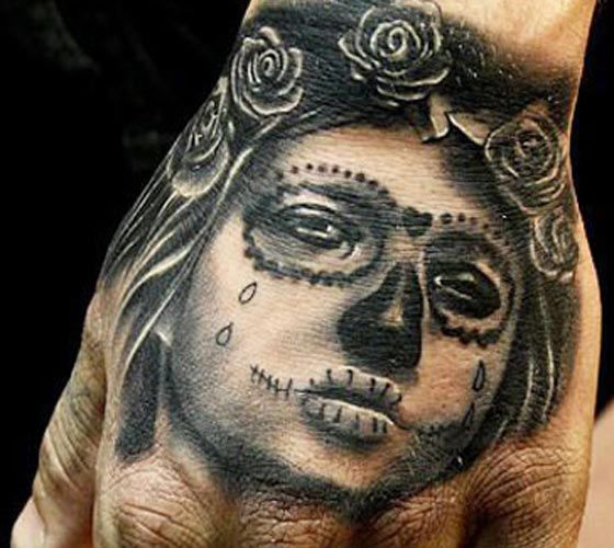 Realistic Muerte Tattoo by Mikko Inksanity | Tattoo No. 5226