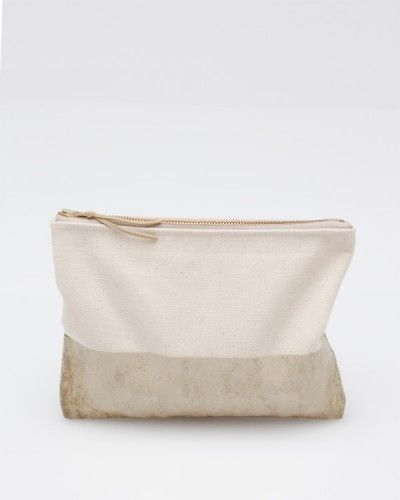 Canvas Pouch In Natural