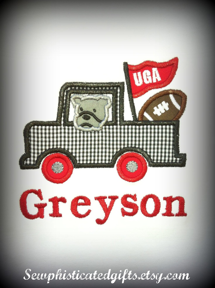 Georgia Bulldogs Onesie or Shirt love the name could be cute done for UT. . .