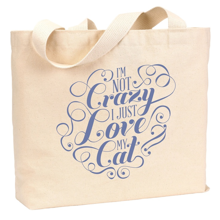 {I'm Not Crazy - Cat Tote Bag} ResQThreads