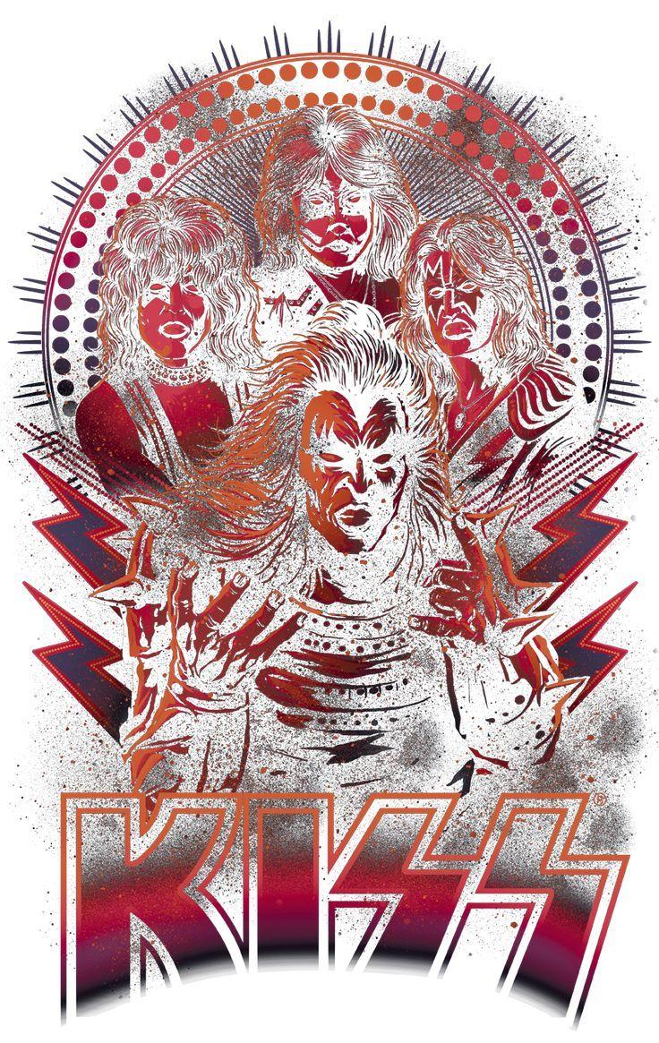 Kiss Comic Style Men S Ringer T Shirt Comic Styles Kiss Art