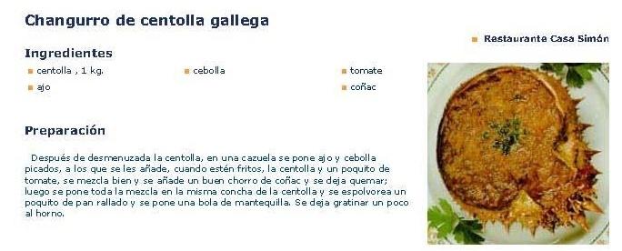 Changurro de centolla Gallega.
