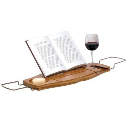 De ultieme accessoire voor luxe en ontspanning! Heerlijk genieten van een goed boek en een lekker glas wijn in bad. Het bamboe badrek van Umbra biedt namelijk ruimte voor allebei. Dat wordt genieten van je welverdiende warme bad.