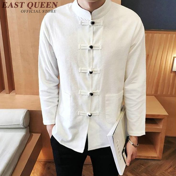 Long Sleeve Two Sided Traditional Chinese Clothes Tang Suit Top Men Kung Fu Uniform Outfit Clothing for Men KK492F