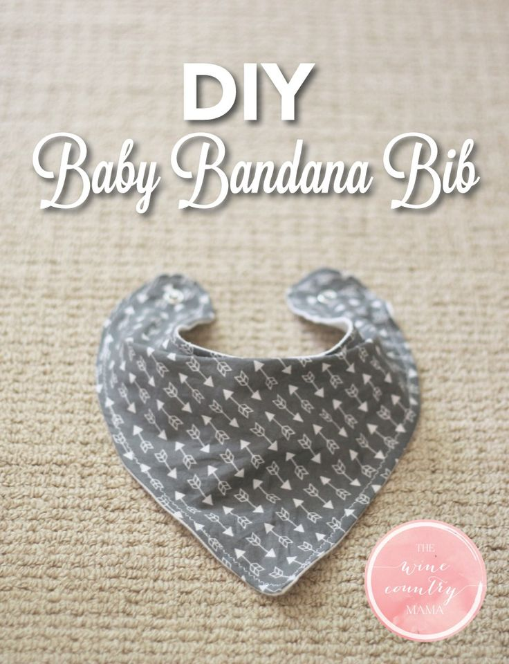 DIY Baby Bandana Bib | The Wine Country Mama | www.thewinecountrymama.com