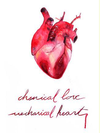 Ilustración corazón humano decoración por MolinSolitarioART en Etsy