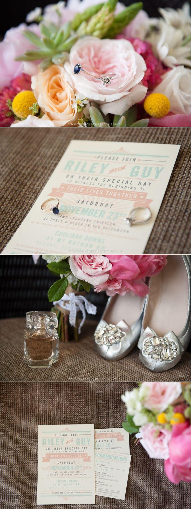 Vintage Inspired Wedding Invitations. Vintage wedding ideas.  ~Sydney wedding photography by Yulia Photography~ www.yuliaphotography.com.au