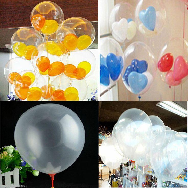 100Pcs Sweet Love Transparent Latex Balloons Birthday Wedding Party Decor  Zxf