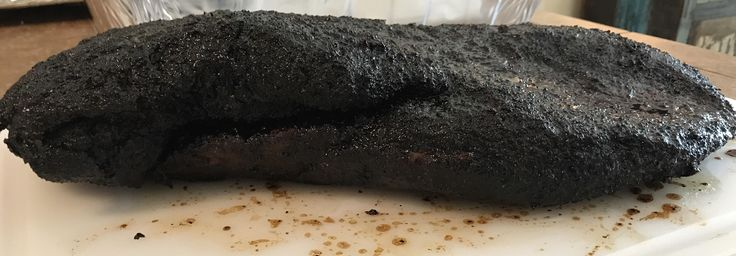 Smoked a choice brisket I bought on sale from Kroger this 4th weekend. Oak S&P about 15 hours on offset smoker. #barbecue #BBQ #food #grill #summer #plancha #party