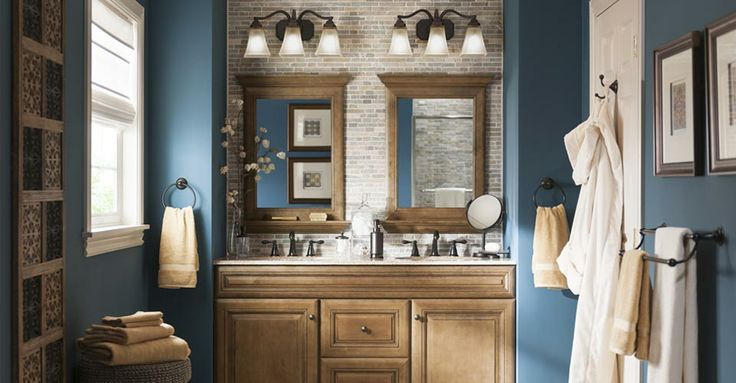 Photo Gallery In Website This is our new bathroom Cant wait for it to be delivered I love Paint color is Perfect Storm from the Ballantyne Collection at Lowe us