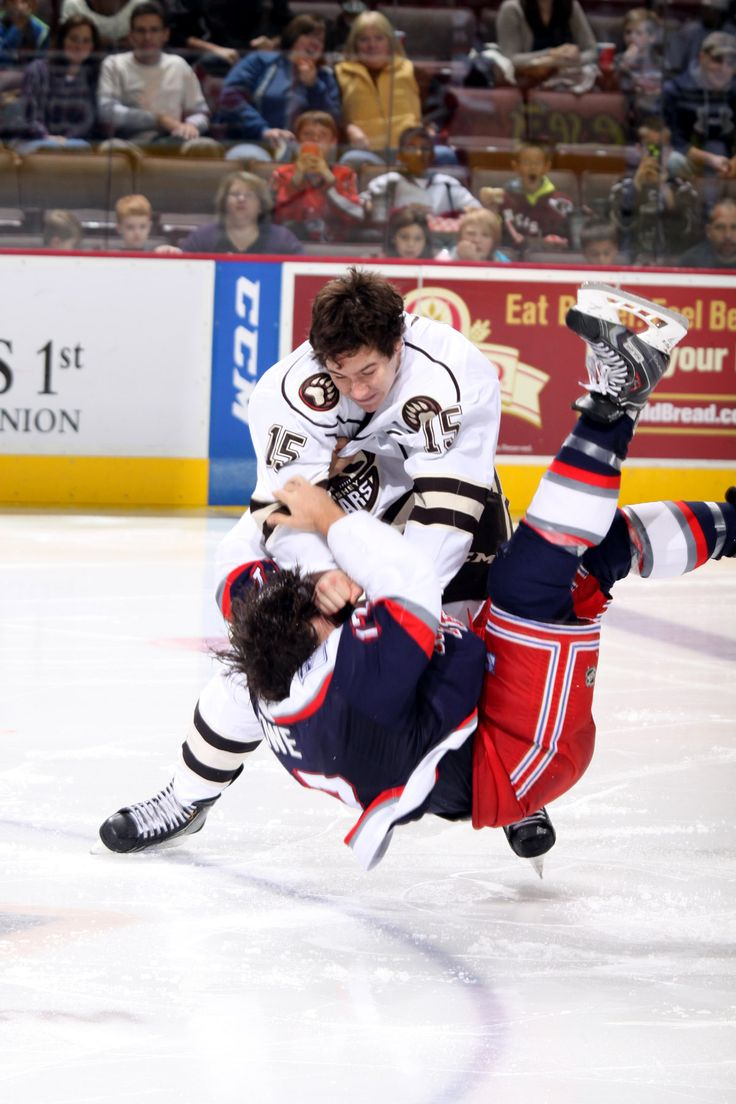 10.26.13 - Hershey Bears player, Michael Latta, bringing the heat against Hartford. Photo courtesy of JustSports Photography