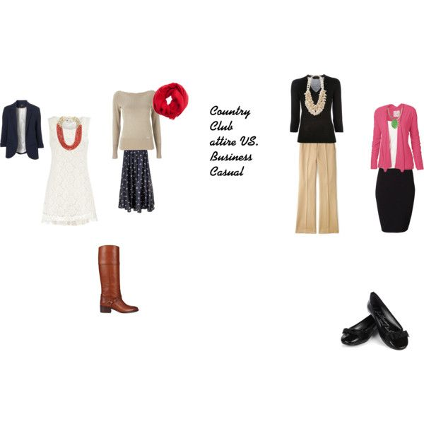 """Country club attire vs. Business Casual"""