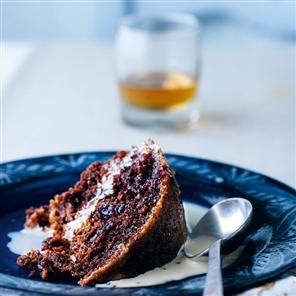 Clootie dumpling with Drambuie custard / Image via: Delicious Magazine #scottish #recipe