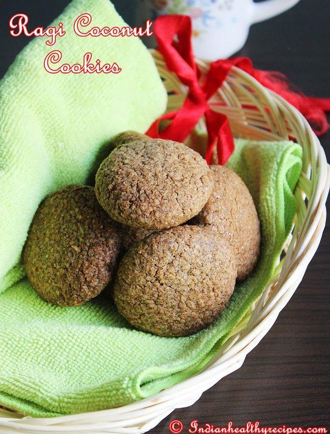 Ragi Coconut Cookies Recipe – How to make crunchy Ragi Biscuits