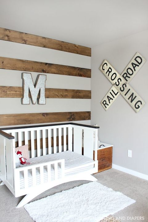 rustic toddler boys room