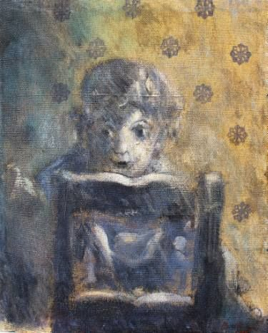 """Saatchi Art Artist simone Butturini; Painting, """"The boy and its chair"""" #art"""