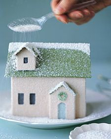 how to: Christmas glitter houses