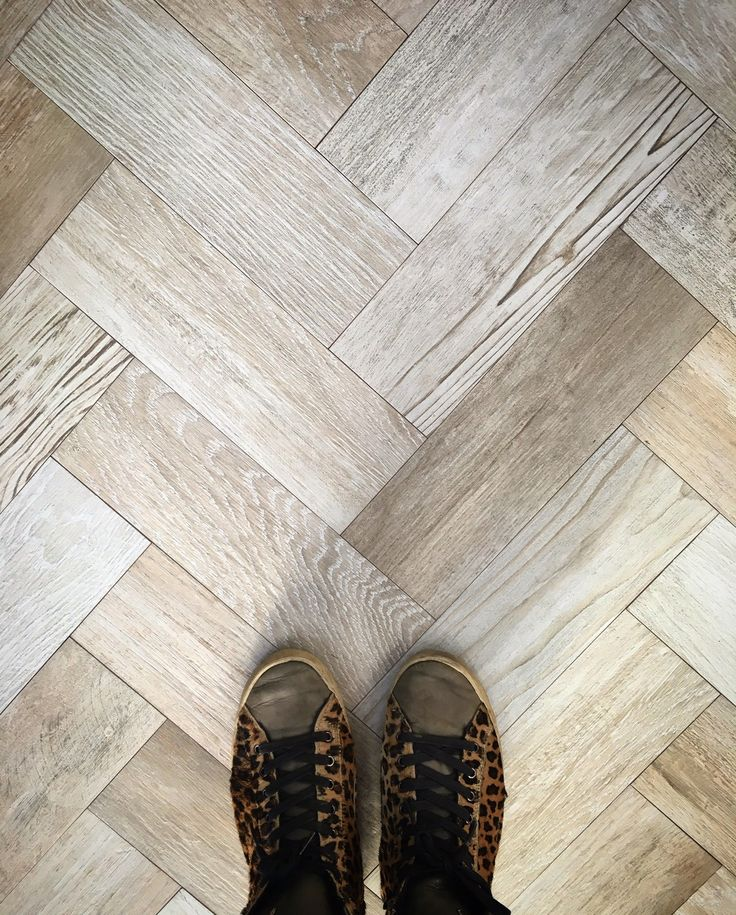 New for 2016 | 'Xylem Natural' Wood Effect Porcelain tiles | Laid Herringbone | Mandarin Stone