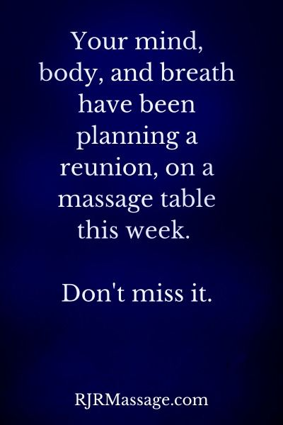 .2015 May be the best year ever, take care of yourself. Make your health a priority . Today is a good day for Massage Call us 918 839 2085 ormake appointments online at www.pleasanrvalleymassage.com