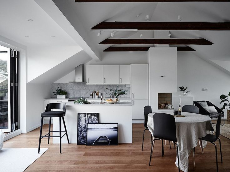 100 best cucinare in mansarda images on pinterest   apartments ... - Zona Giorno Open Space