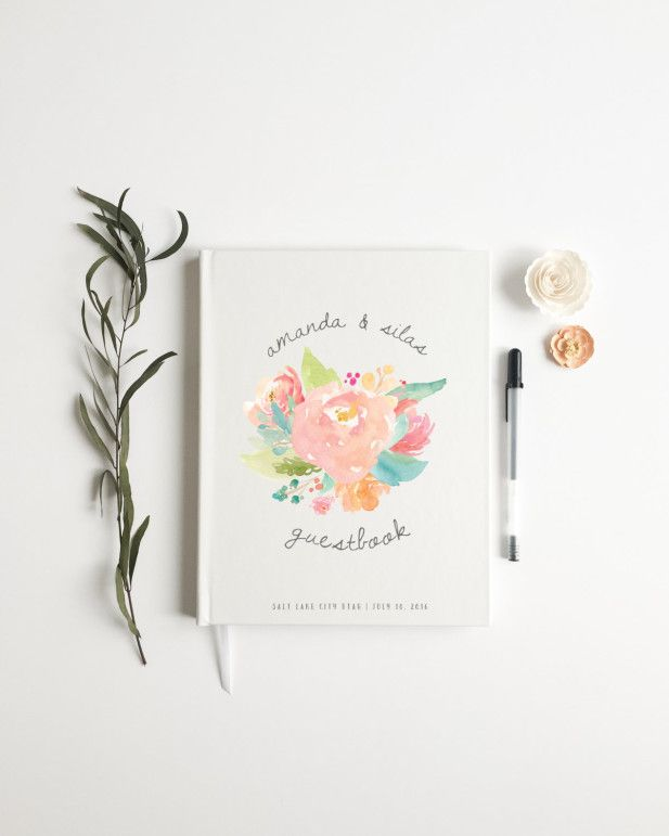Personalized adorable guest book