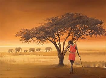 "beautiful ravensburger puzzle ""african masai"""