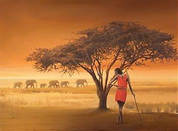"beautiful ravensburger puzzle ""african masai"""