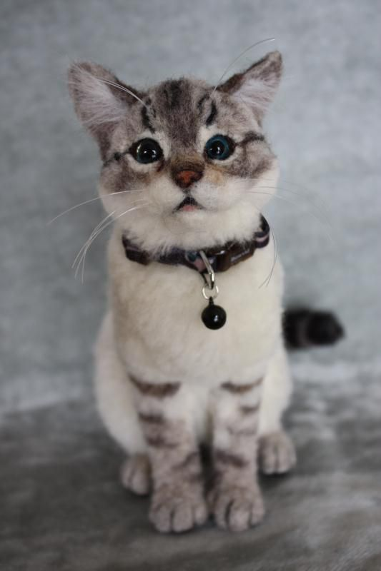 Needlefelted cat by yayaya from Japan - quite incredible! See more pictures by following link!