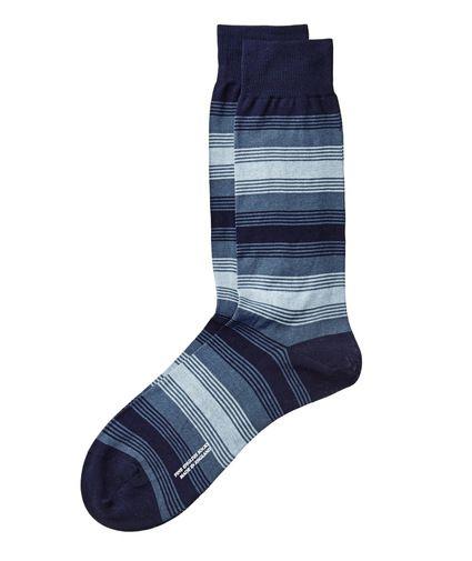 Striped Egyptian Cotton Lisle Socks