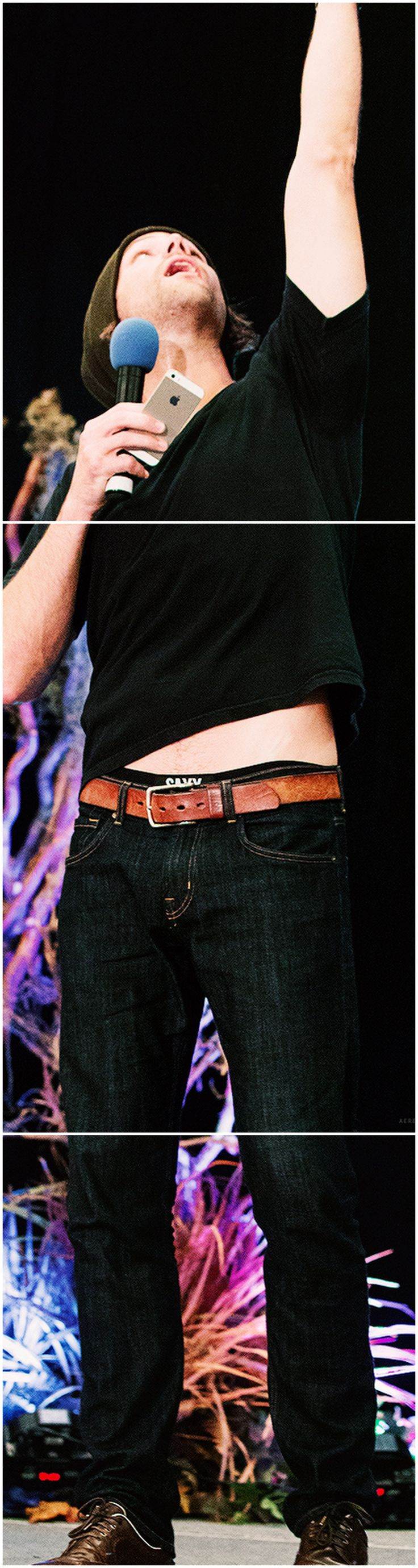 Jared you HAVE to have borrowed one of Jensen's t-shirts I mean come on... #solong #imadroolingmess