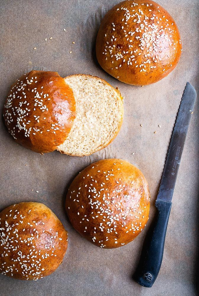 Homemade Brioche Buns | Dessert for Two (small batch burger buns)