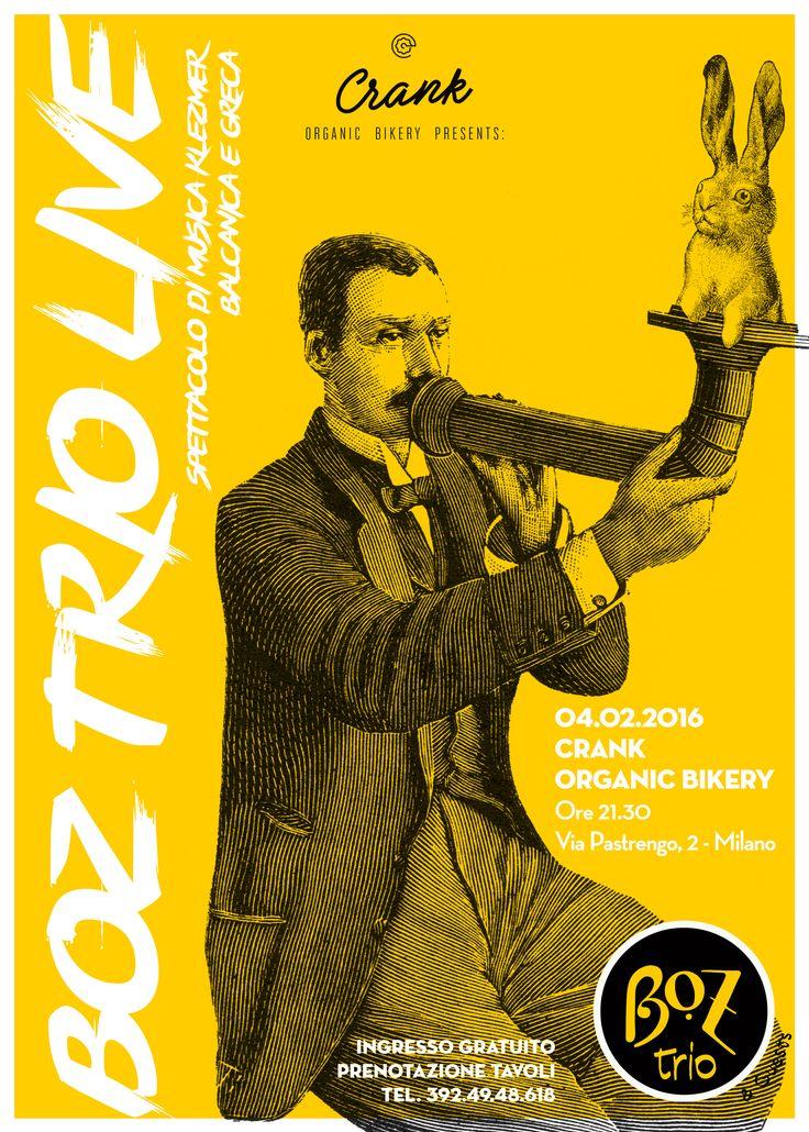Boz Trio Live @Crank Milano