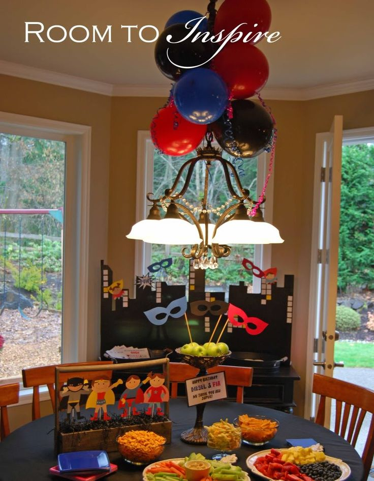 superhero party decorating ideas superhero party pinterest