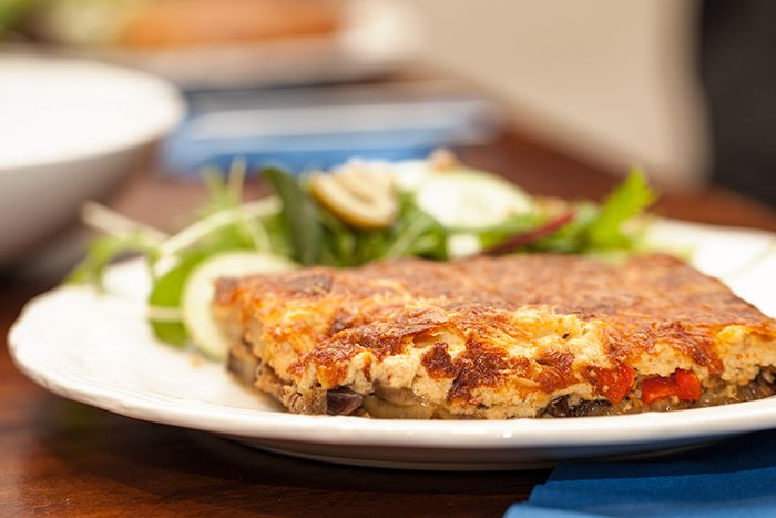 Greek Vegetarian: Low-carb Vegetarian Moussaka topped with Creamy Paprika Ricotta Meat Free Week – Day One
