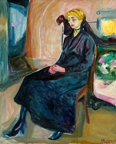 Edvard Munch (1863-1944) Seated Young Woman, 1916