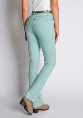 """Tvarující džíny """"užší křivky"""" #ModinoCZ #fashion #jeans #grean #mint #fashion #trendy #moda #styl"""